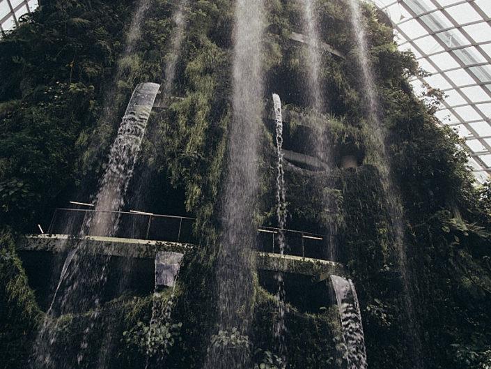 indoor waterfall