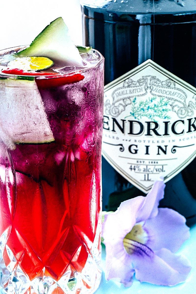 hendricks gin cocktail - unicorn cocktail