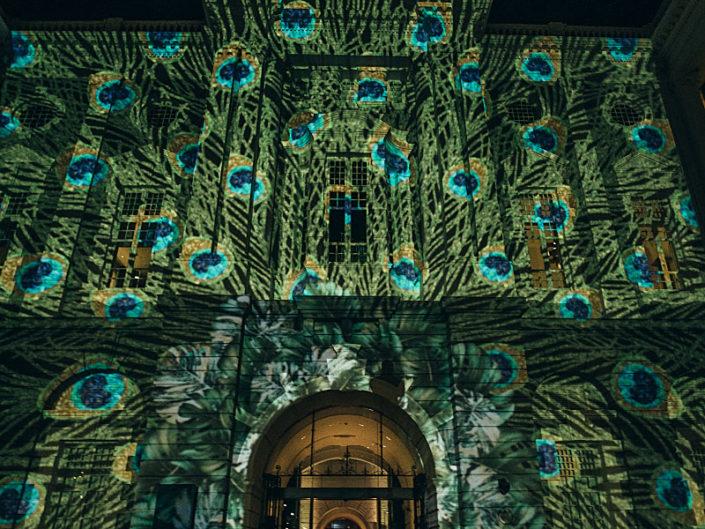 buildings projection