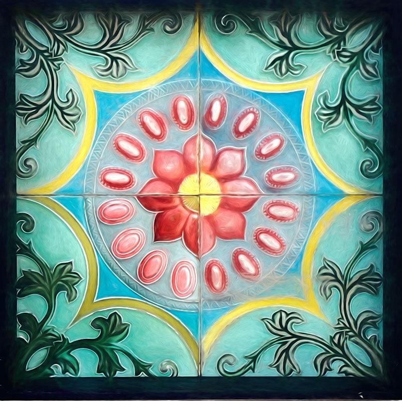 peranakan ornament tile penang