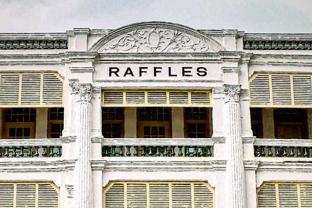 raffles hotel painting