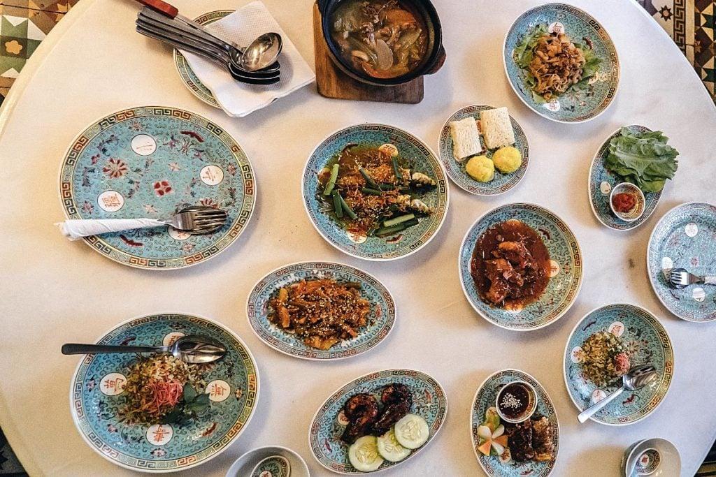 tasting menu at Little Nyonya restaurant Penang