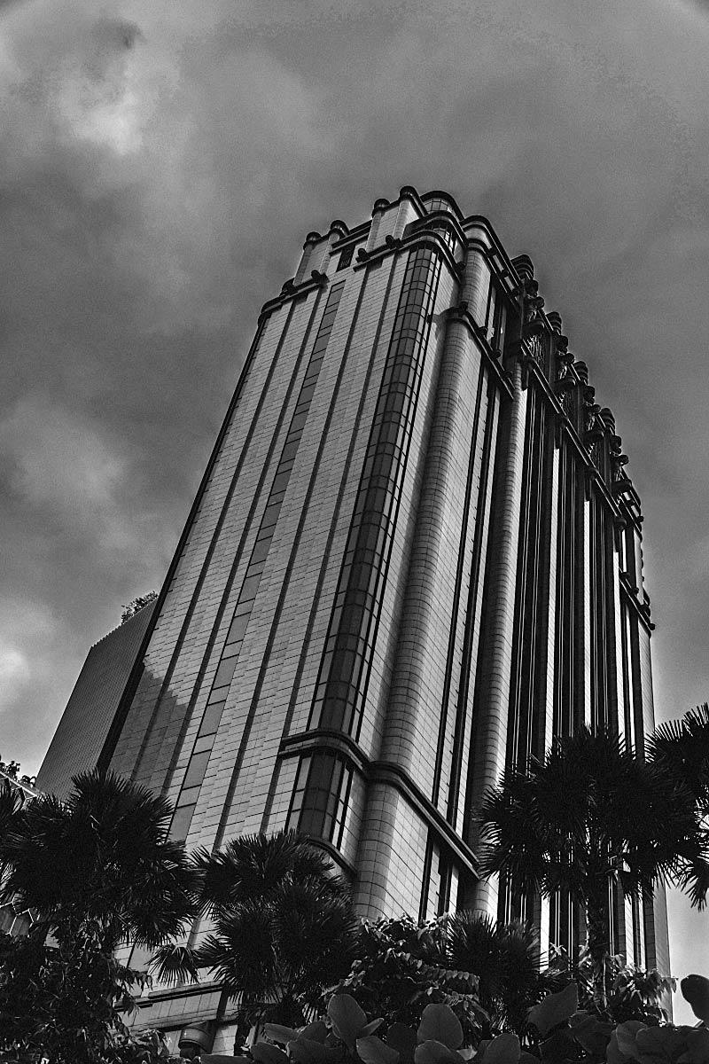 Gotham building gotham building · black and white