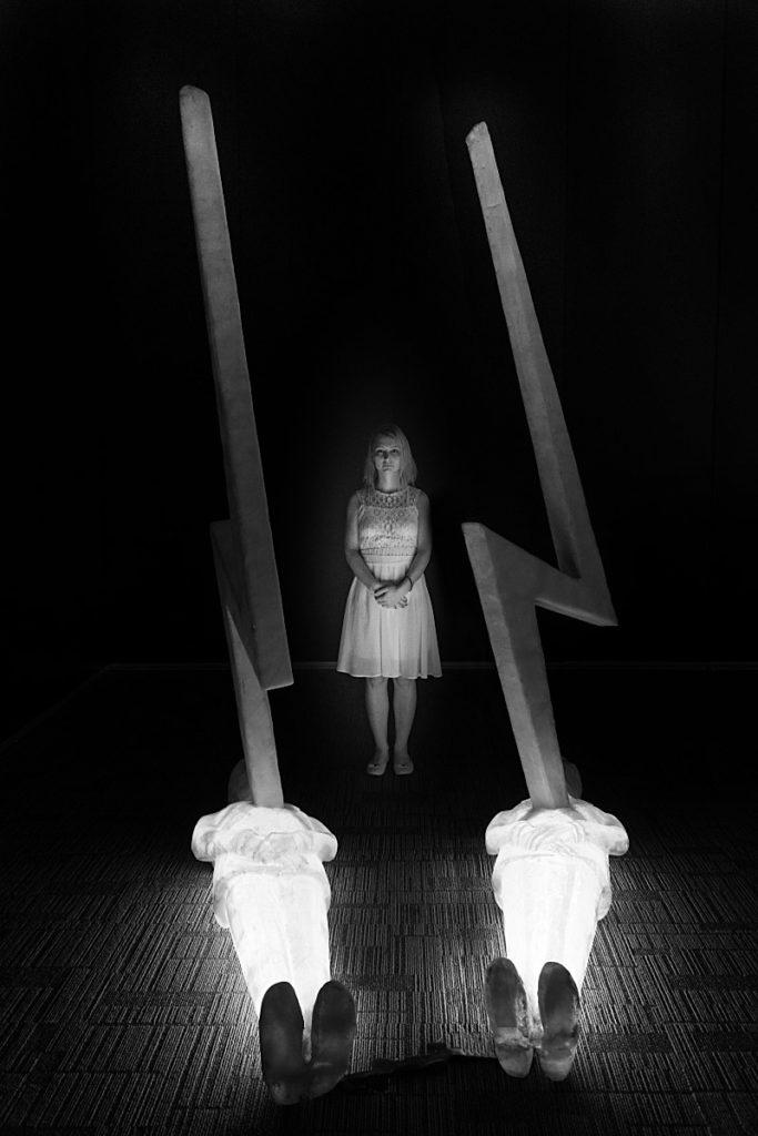 Black and white thunder photography