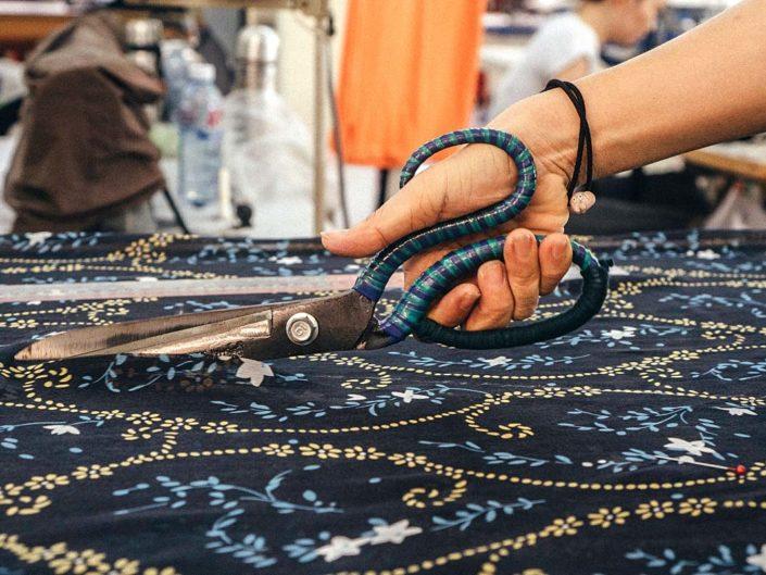 dressmaking cutting fabric