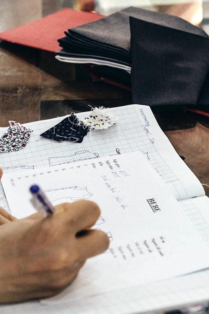 Hoi An Tailor - Measuring for dress