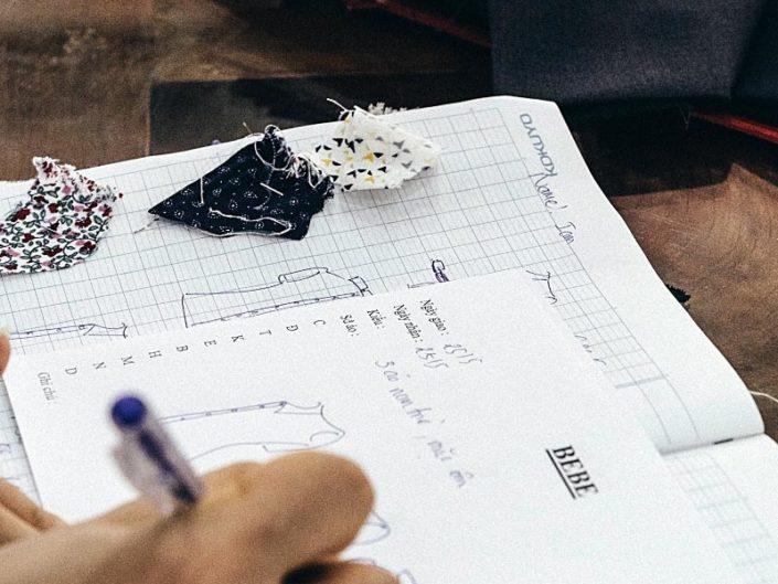 Tailor notes sketchbook