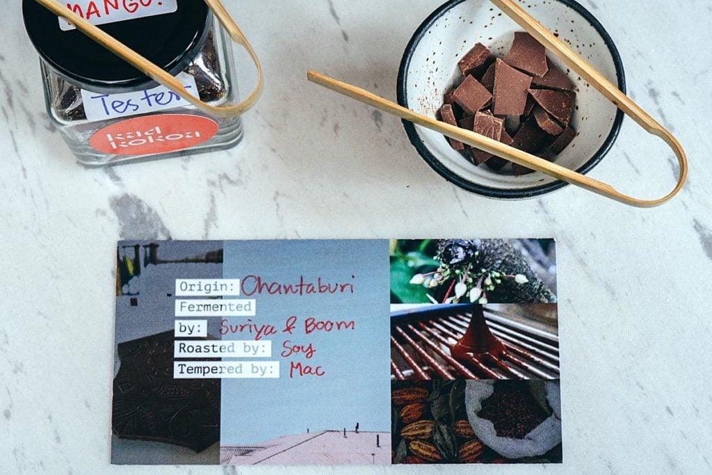 Chocolate degustation