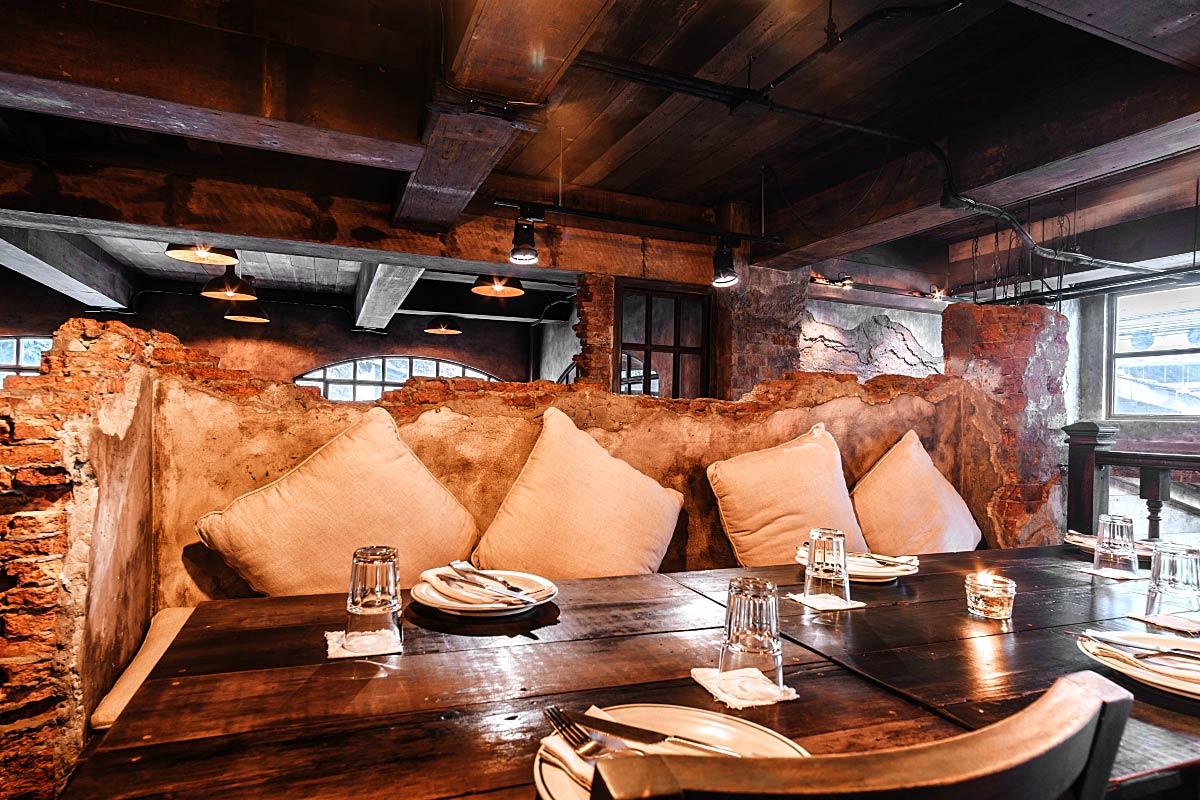 Table at Harvest Restaurant