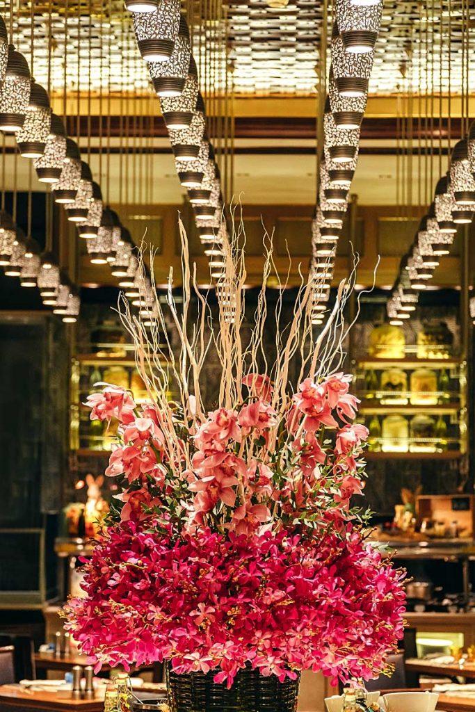 Orchids flower arrangement