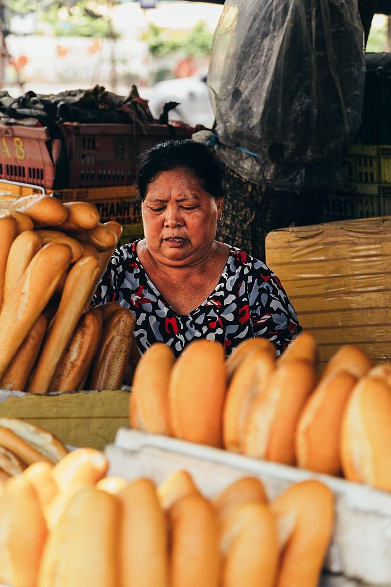 Vietnamese bread seller