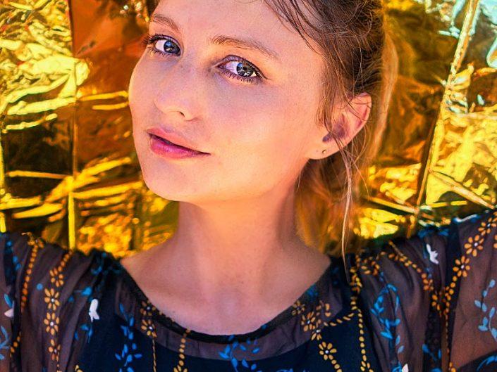 golden skin glow portrait