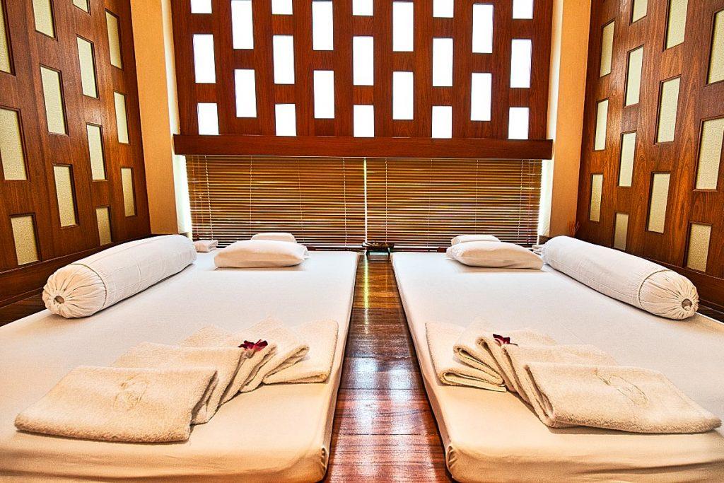 couple of traditional thai massage mattress