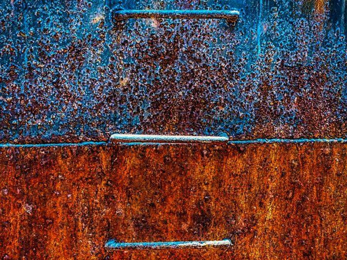 old iron ladder