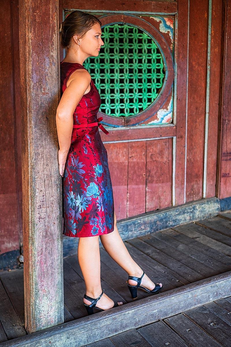 Hoi an red dress