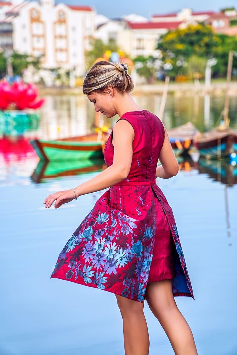 red dress hoi an tailor made