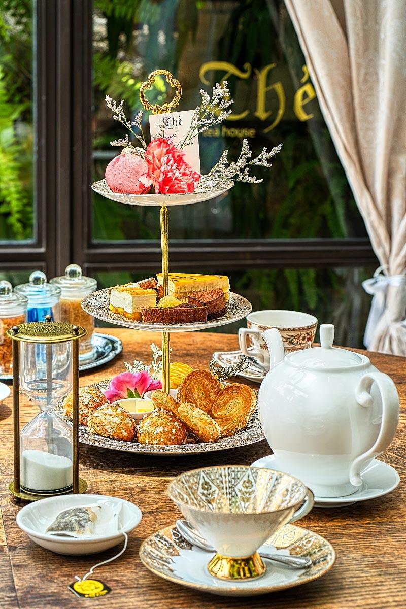 Afternoon tea set at the Tea House Bangkok