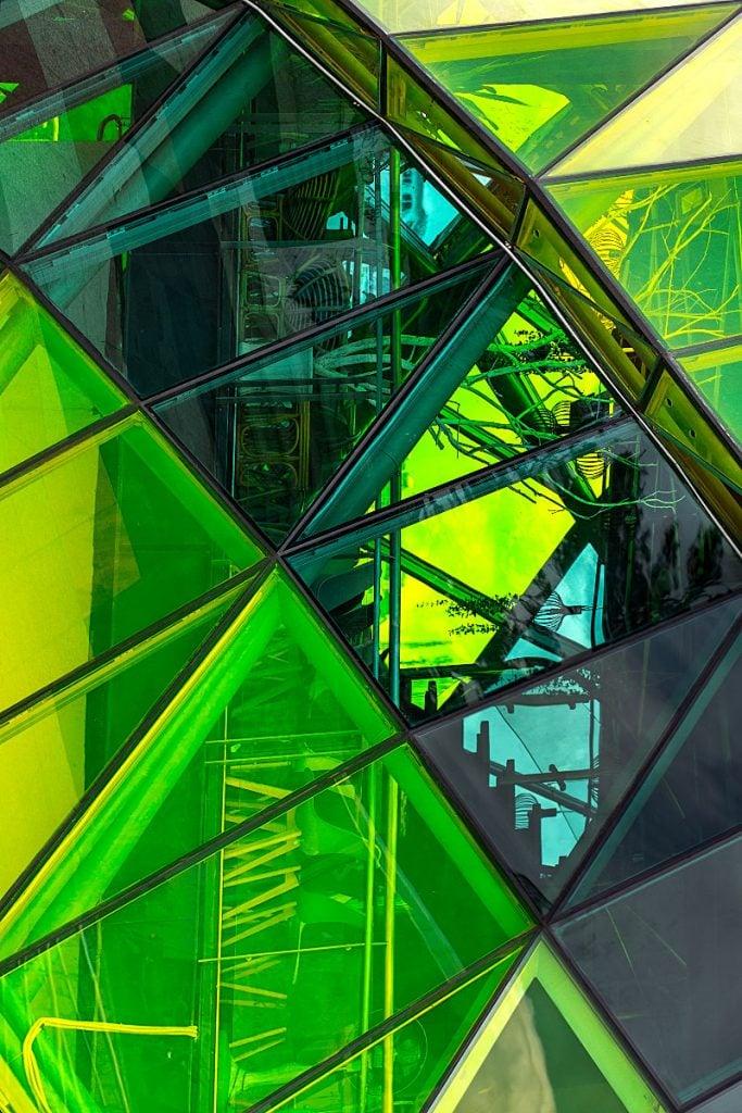 Dalat green glass building
