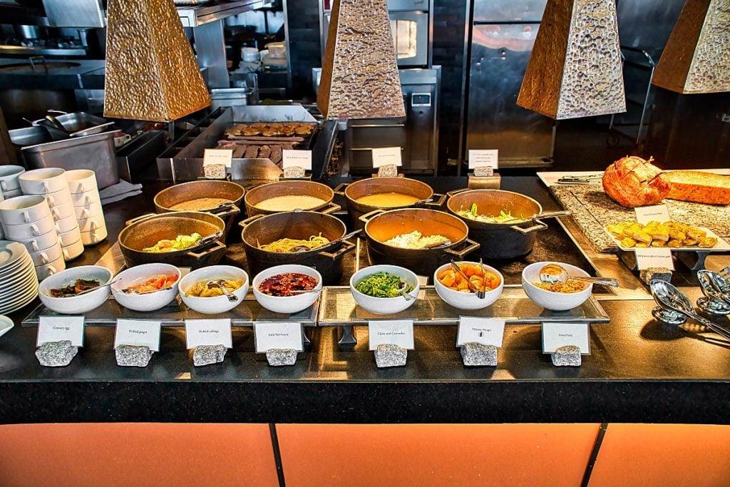 buffet breakfast at Mandarin Oriental Bangkok hotel