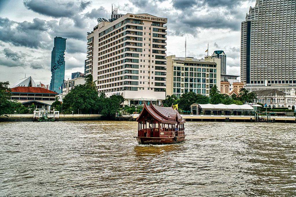 teakwood boat on Chao Phraya river