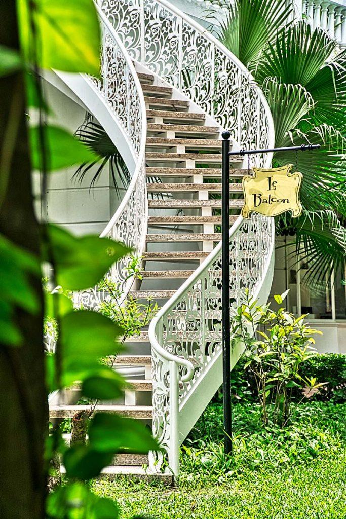 Romantic staircase in Hanoi