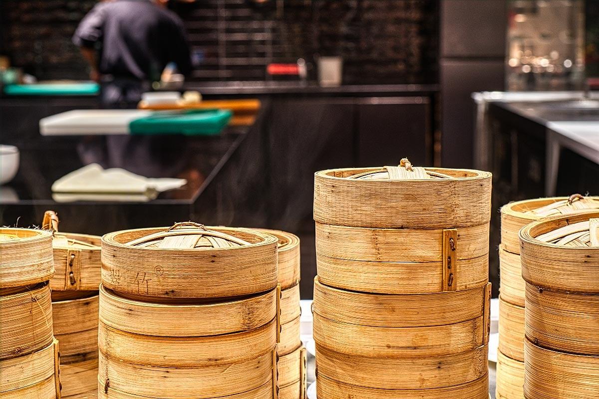 Dim Sum bamboo trays
