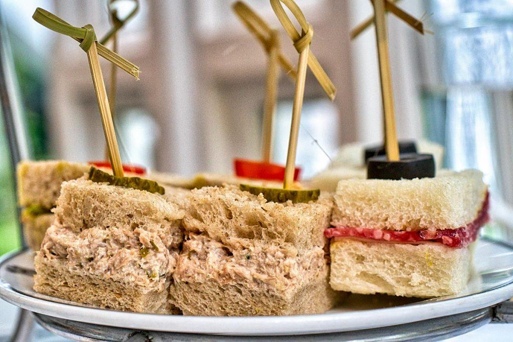 tuna afternoon tea sandwich