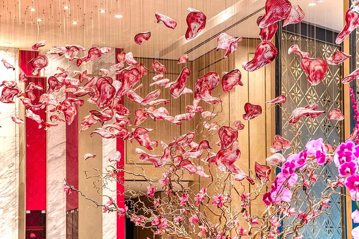 Crystal hibiscus petals