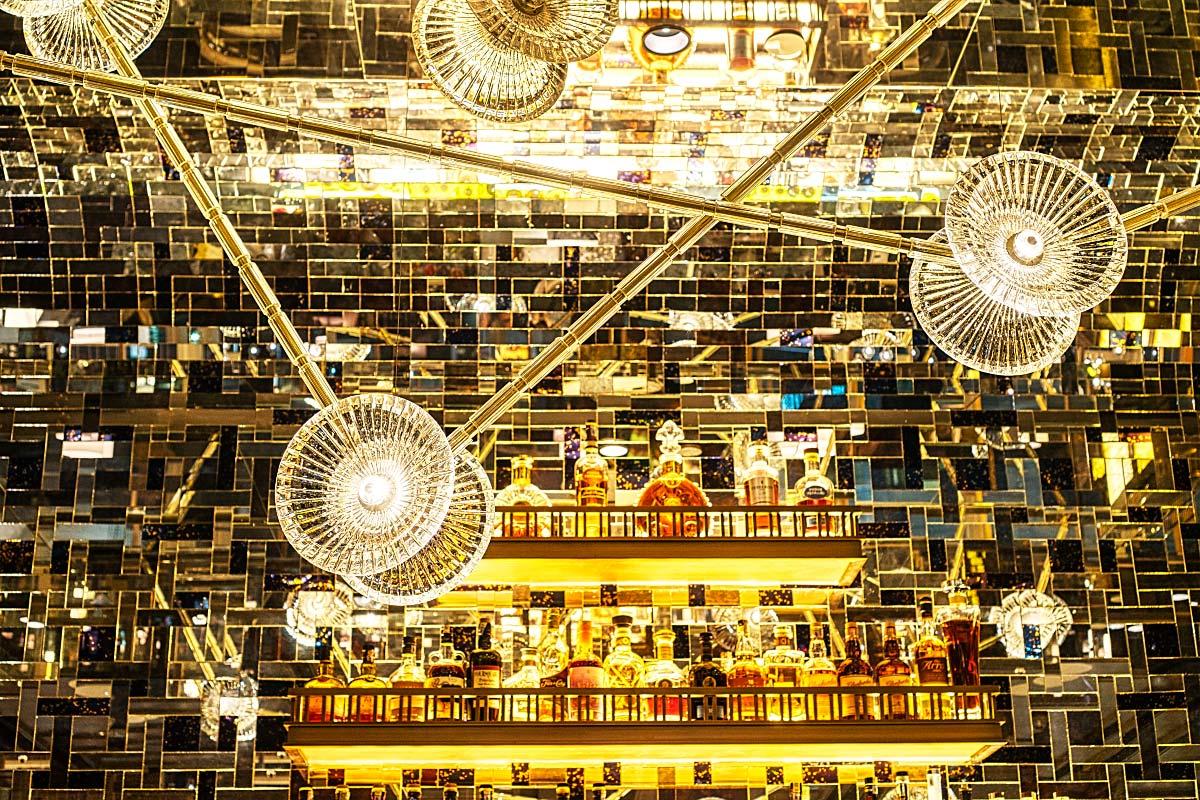 modern bar lights at Four Seasons Kuala Lumpur