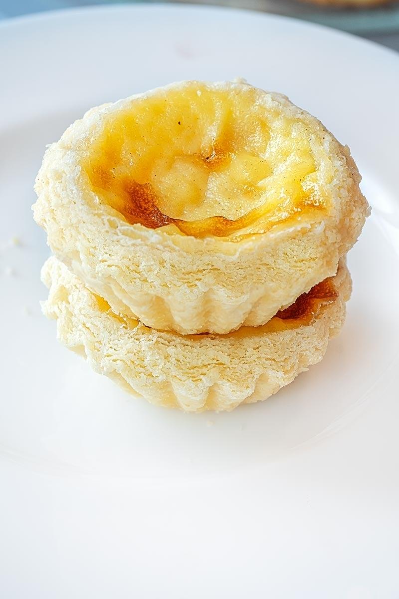 Egg custard tartlet