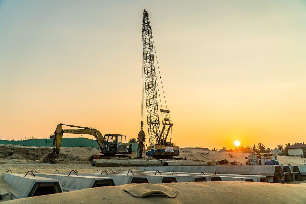 cua dai beach under construction