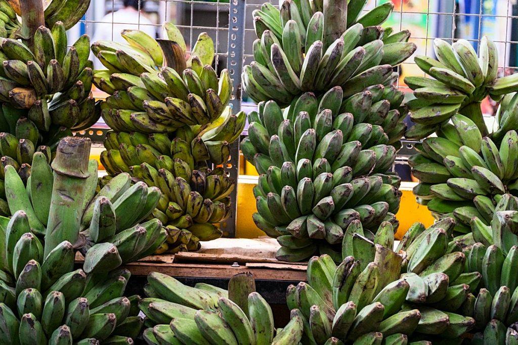 bananas at the local market