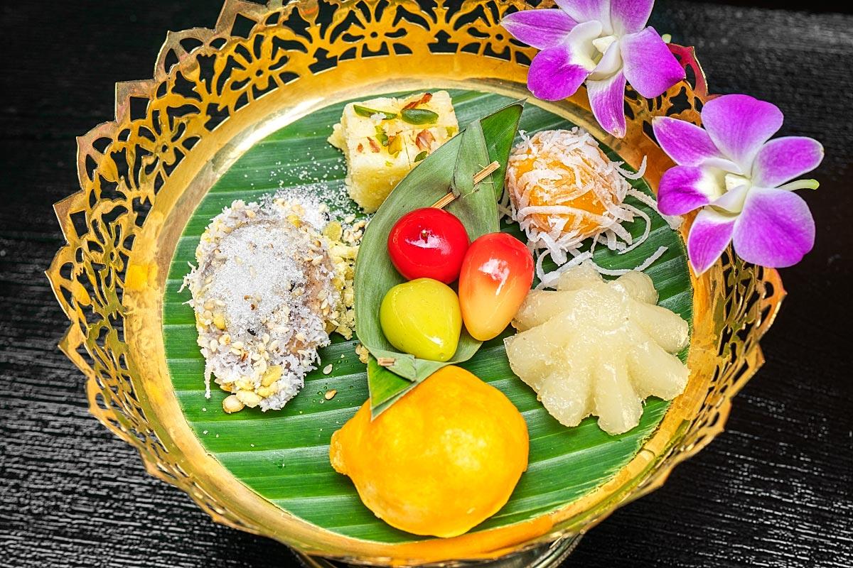traditional Asian dessert mix in Bangkok