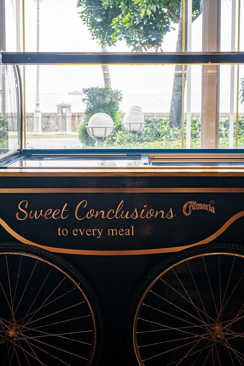 old fashioned ice cream trolley