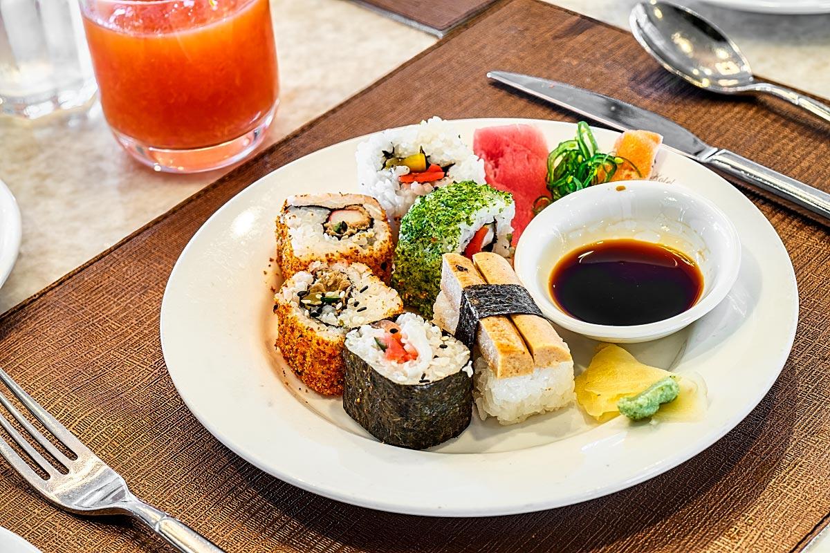 sushi at Sarkies Buffet