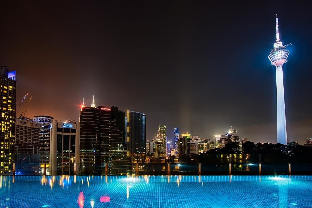 rooftop infinity pool in Kuala Lumpur