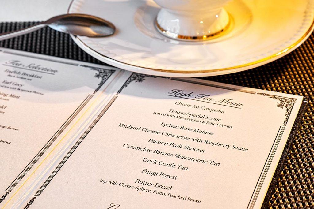 Farquhar Mansion menu
