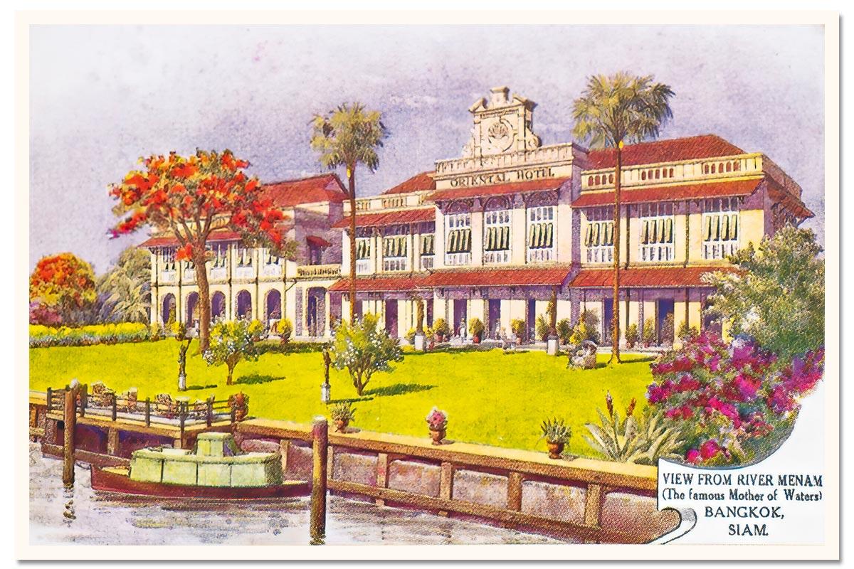 Oriental Bangkok Postcard 1922