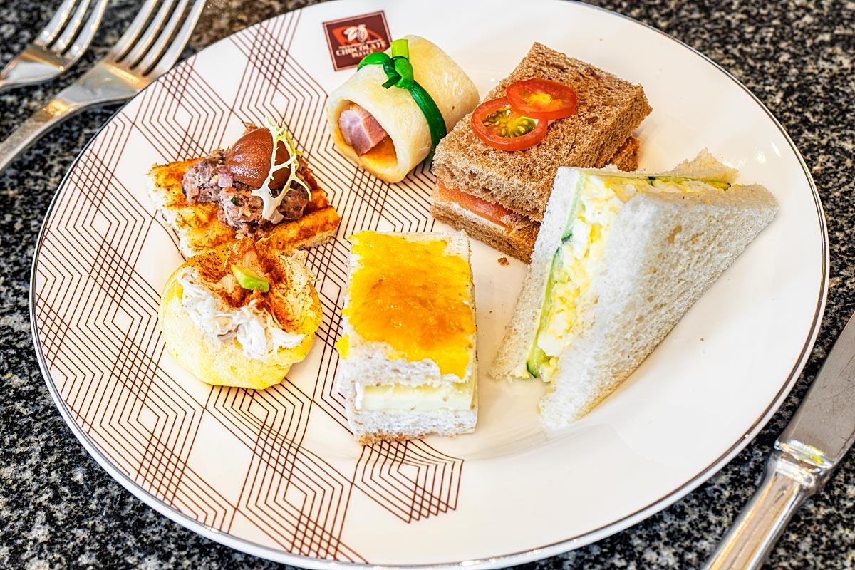 Sukhothai afternoon tea sandwiches