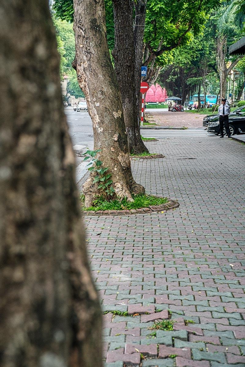 Metropole hanoi sidewalk