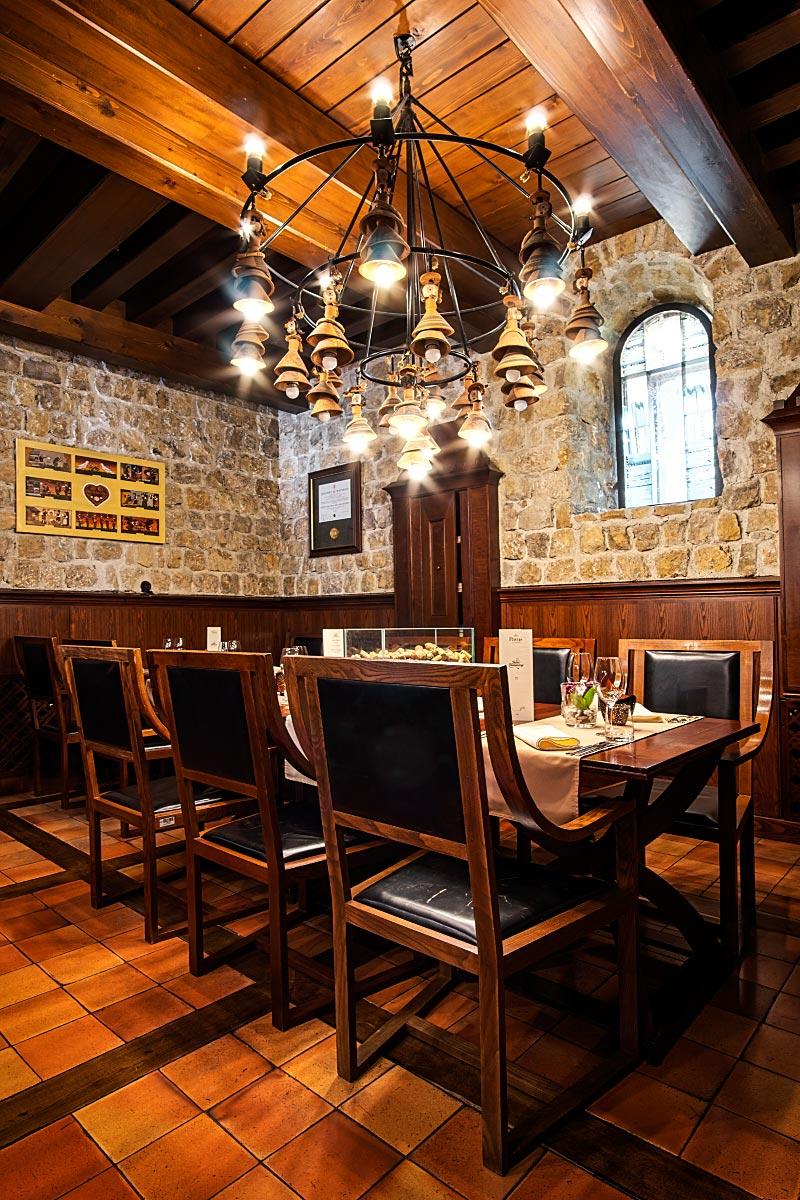 inside Pavus restaurant