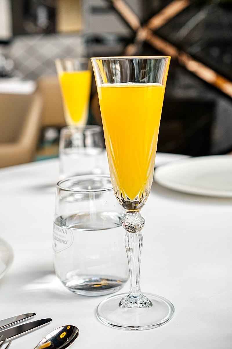 Tangerine restaurant welcoming drink