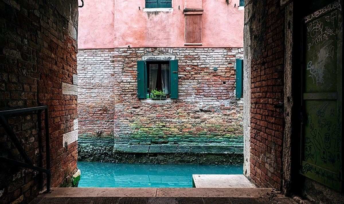 Hidden canal in venice