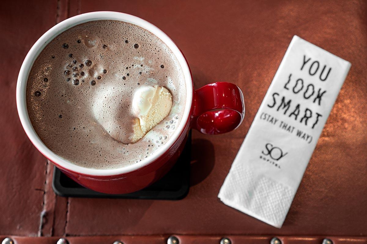 Hot chocolate at Chocolab