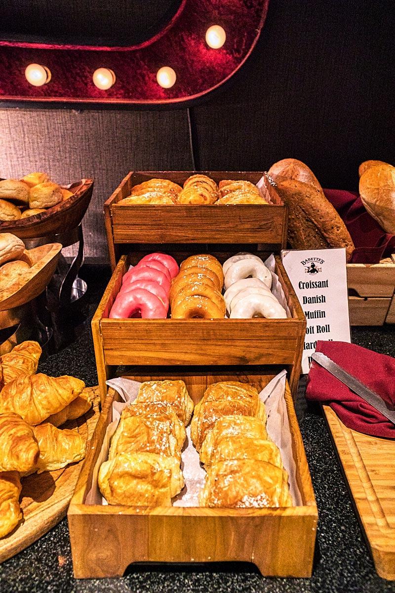 hotel breakfast pastries