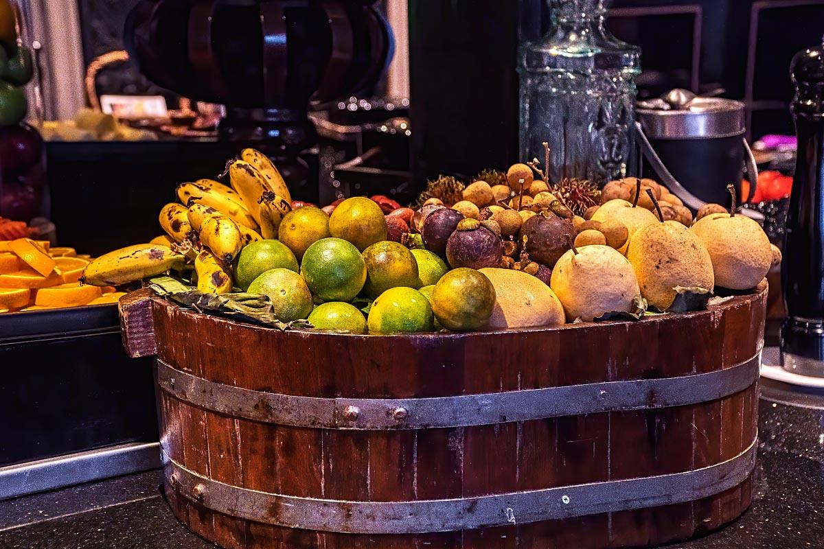 tropical fruit basket