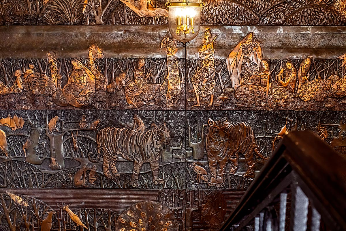 antique wooden wall carving