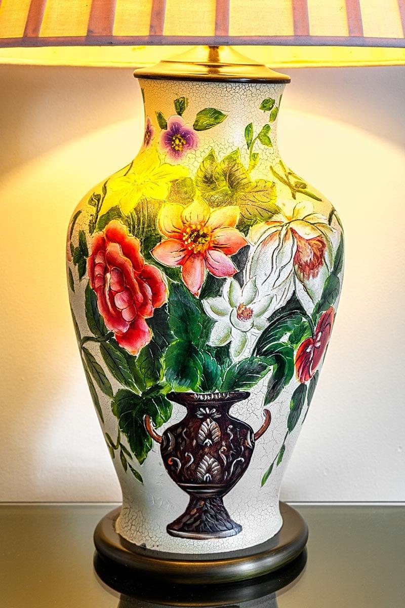 porcelain floral lamp