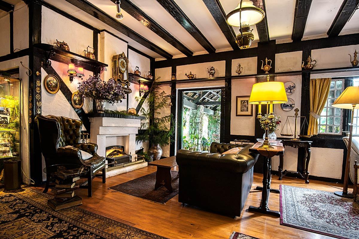 Tudor style living room