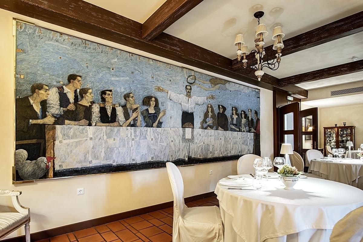 dining room at kendov dvorec